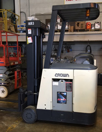 Used Crown Stand-up Forklift Model RC3000
